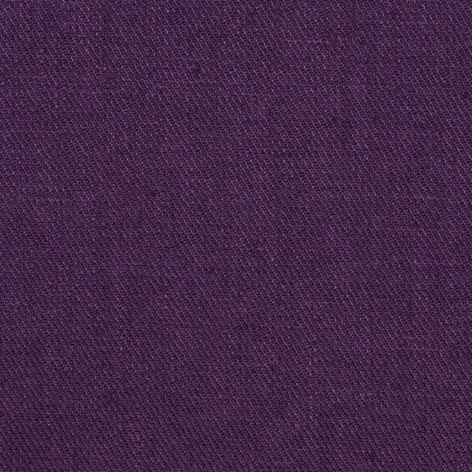 リネン&ポリエステル×無地(パープル)×サージストレッチ_全7色 イメージ1