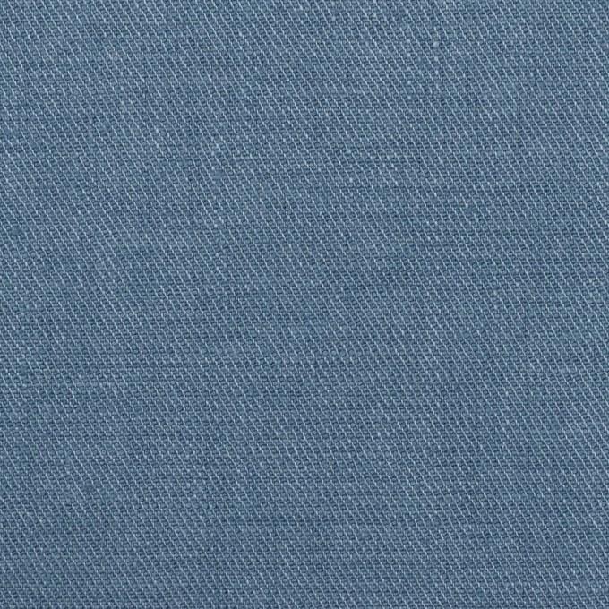 リネン&ポリエステル×無地(アッシュブルー)×サージストレッチ_全7色 イメージ1