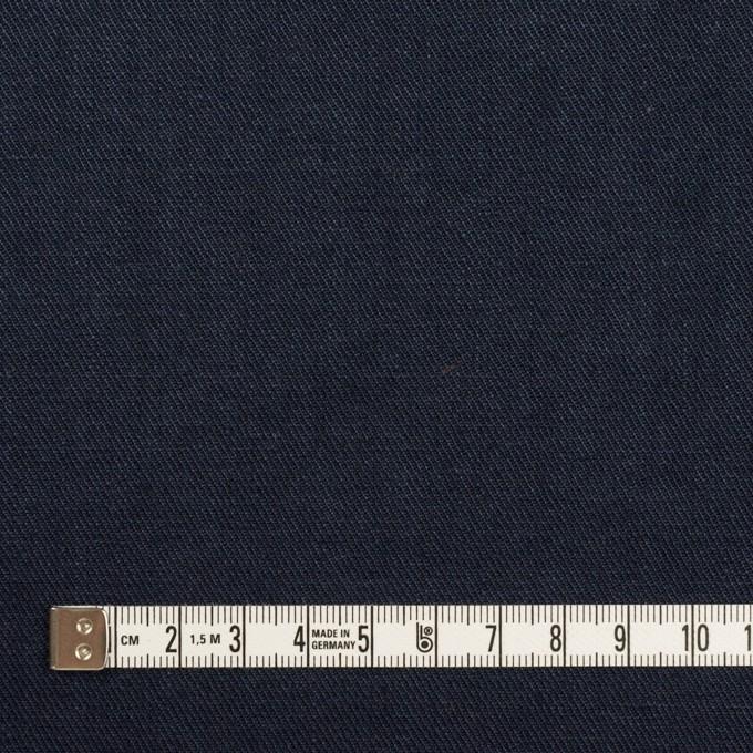 リネン&ポリエステル×無地(ダークネイビー)×サージストレッチ_全7色 イメージ4