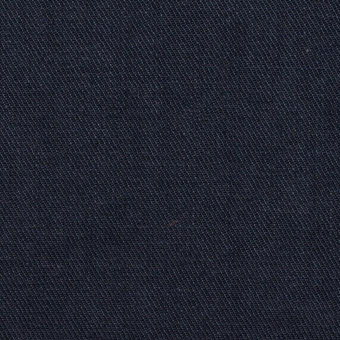 リネン&ポリエステル×無地(ダークネイビー)×サージストレッチ_全7色 イメージ1