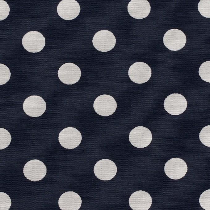 コットン×水玉(ネイビー&ライトグレー)×ブロード_全2色 イメージ1