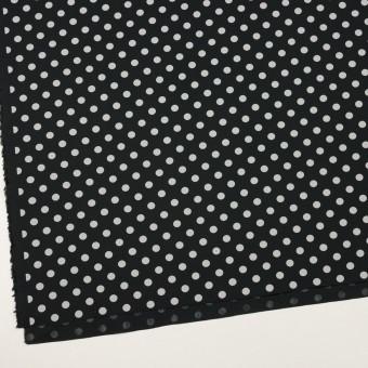 コットン×水玉(ブラック&ライトグレー)×ブロード_全2色 サムネイル2