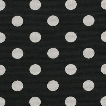 コットン×水玉(ブラック&ライトグレー)×ブロード_全2色