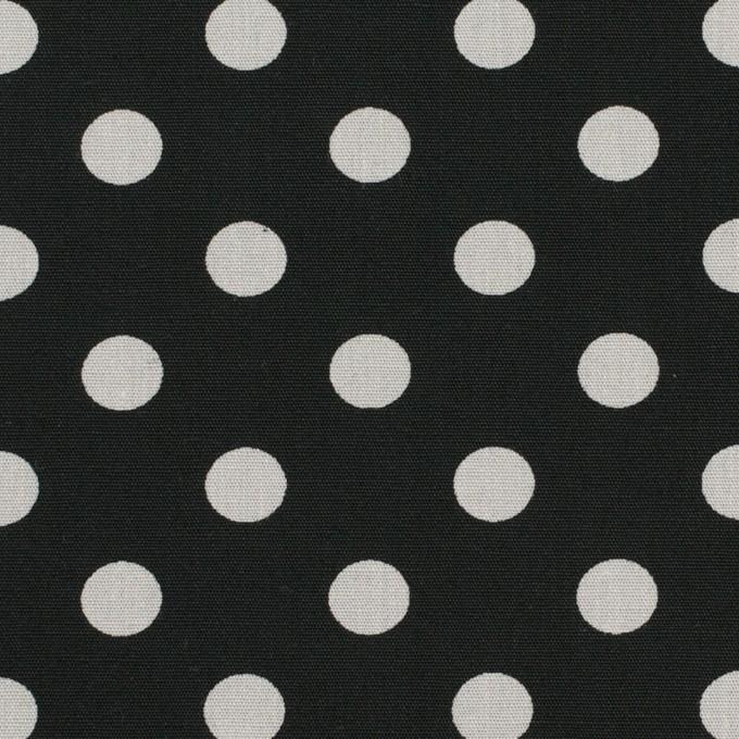 コットン×水玉(ブラック&ライトグレー)×ブロード_全2色 イメージ1