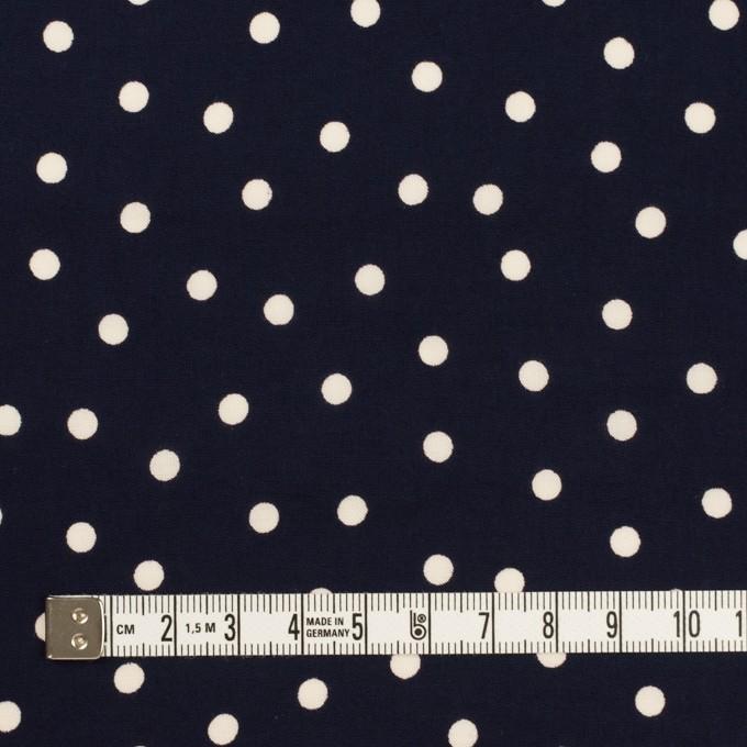 コットン&レーヨン×水玉(ダークネイビー&アイボリー)×ローン イメージ4