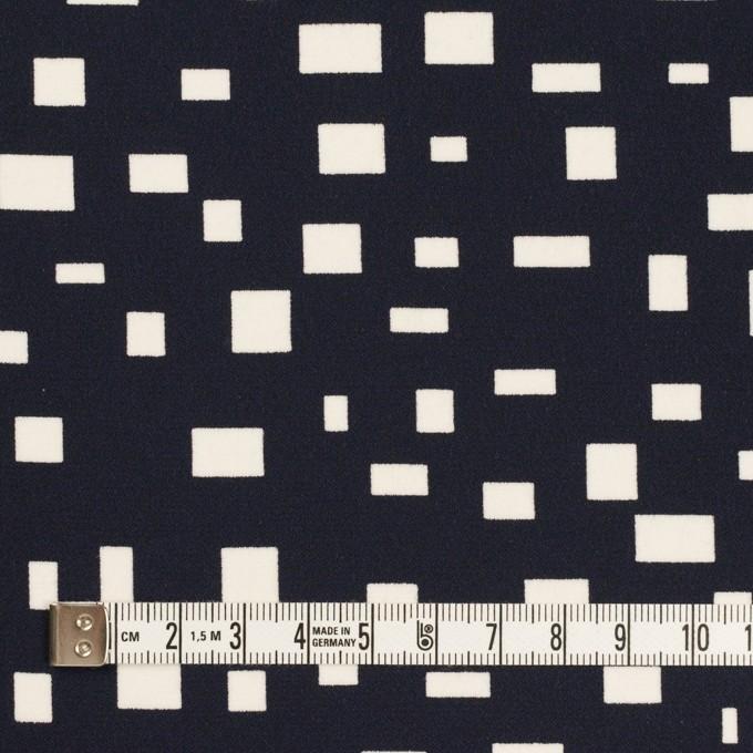 ポリエステル×スクエア(ダークネイビー)×バックサテン・ジョーゼット イメージ4