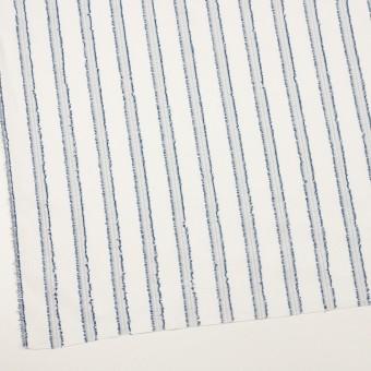 コットン×ストライプ(アッシュブルー)×斜子織カットジャガード サムネイル2