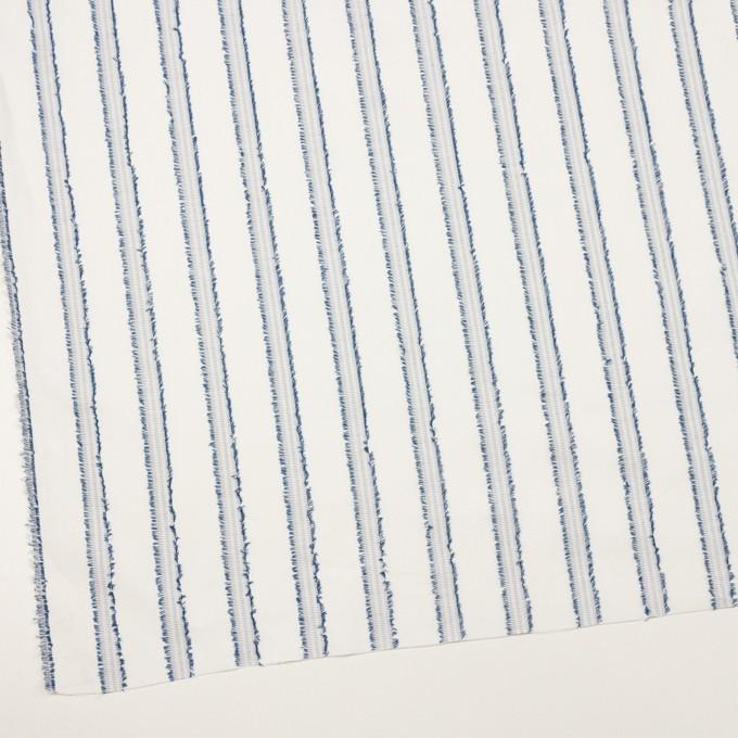 コットン×ストライプ(アッシュブルー)×斜子織カットジャガード イメージ2