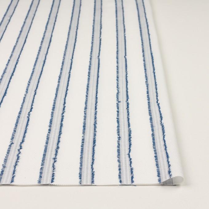 コットン×ストライプ(アッシュブルー)×斜子織カットジャガード イメージ3