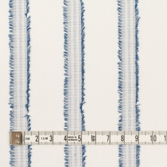 コットン×ストライプ(アッシュブルー)×斜子織カットジャガード サムネイル4