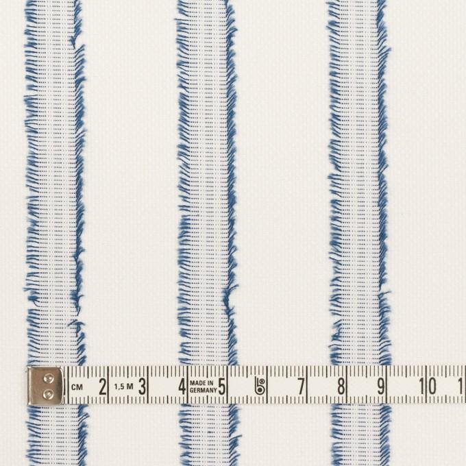 コットン×ストライプ(アッシュブルー)×斜子織カットジャガード イメージ4