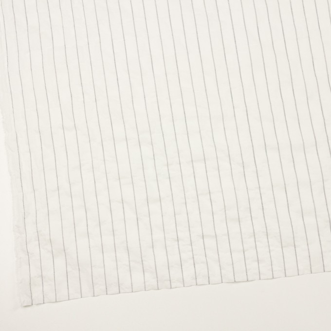 コットン&ポリウレタン×ストライプ(ネイビー)×ボイルシャーリング イメージ2