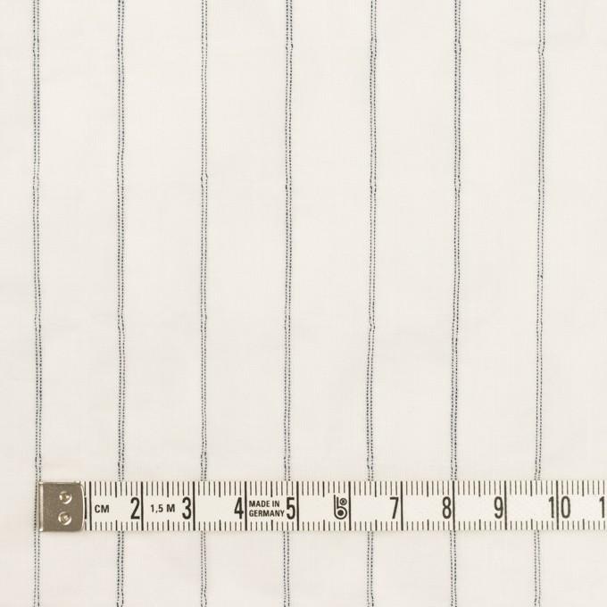 コットン&ポリウレタン×ストライプ(ネイビー)×ボイルシャーリング イメージ4