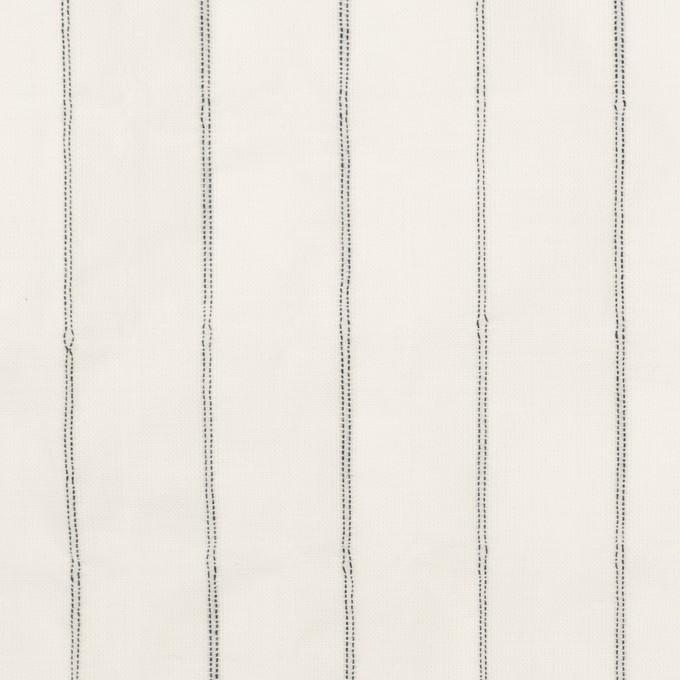 コットン&ポリウレタン×ストライプ(ネイビー)×ボイルシャーリング イメージ1