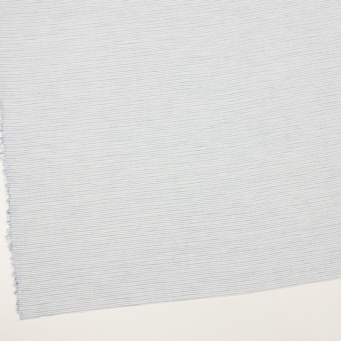 コットン×ボーダー(サックスグレー)×ボイルワッシャー イメージ2