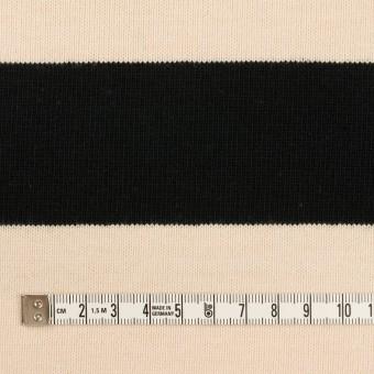 コットン×ボーダー(ブラック&エクリュ)×天竺ニット サムネイル4