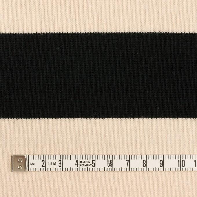 コットン×ボーダー(ブラック&エクリュ)×天竺ニット イメージ4