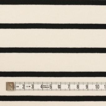コットン×ボーダー(クリーム&ブラック)×天竺ニット_全3色 サムネイル4
