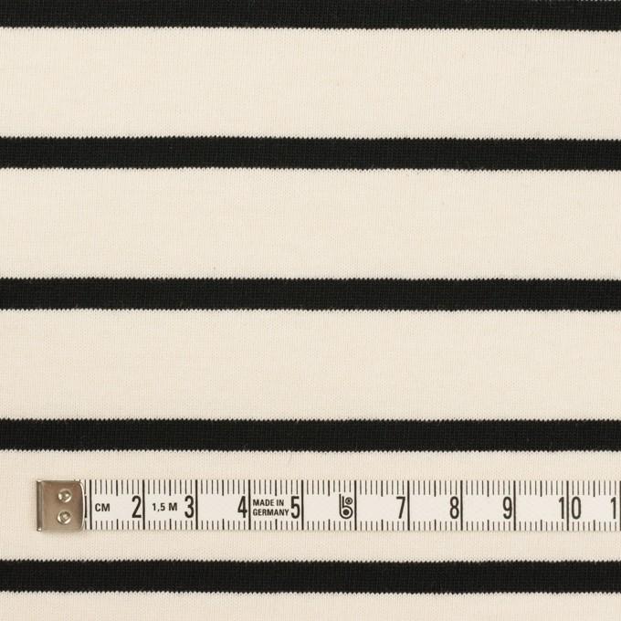 コットン×ボーダー(クリーム&ブラック)×天竺ニット_全3色 イメージ4