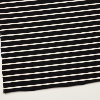コットン×ボーダー(ブラック&クリーム)×天竺ニット_全3色 サムネイル2