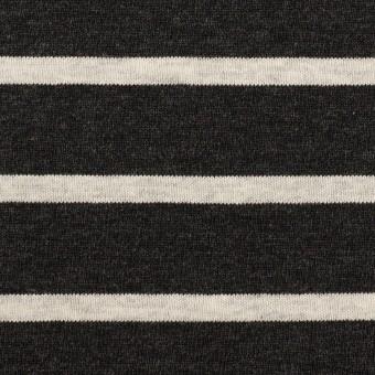 コットン×ボーダー(チャコール&グレー)×天竺ニット_全3色