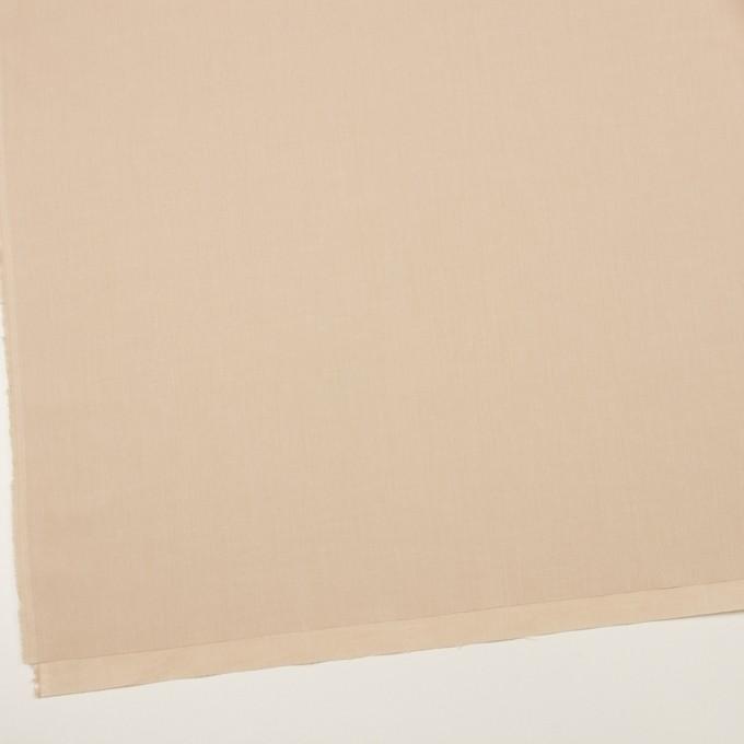 コットン&ポリウレタン×無地(ライトベージュ)×シャンブレー・ローンストレッチ イメージ2