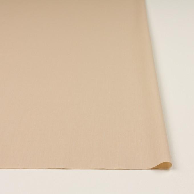 コットン&ポリウレタン×無地(ライトベージュ)×シャンブレー・ローンストレッチ イメージ3
