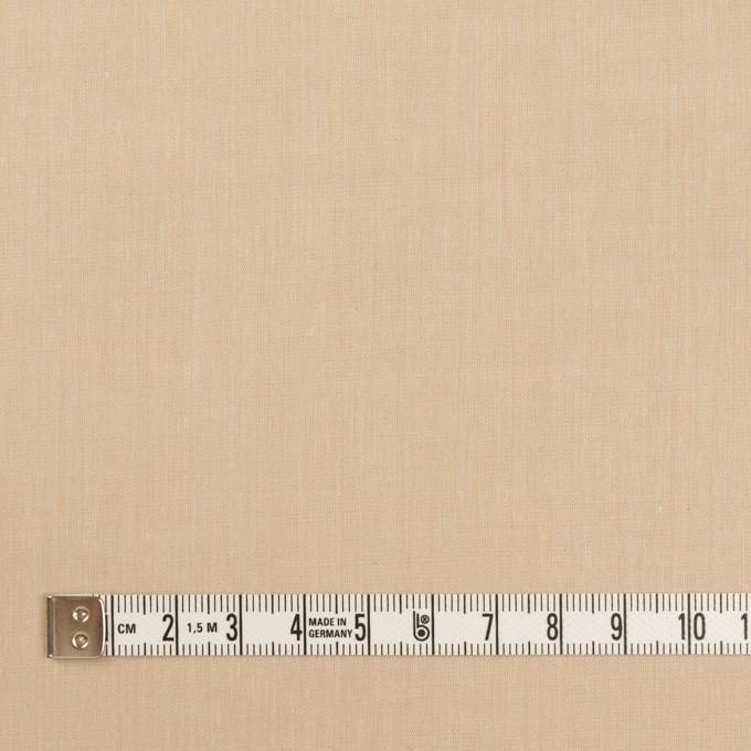 コットン&ポリウレタン×無地(ライトベージュ)×シャンブレー・ローンストレッチ イメージ4