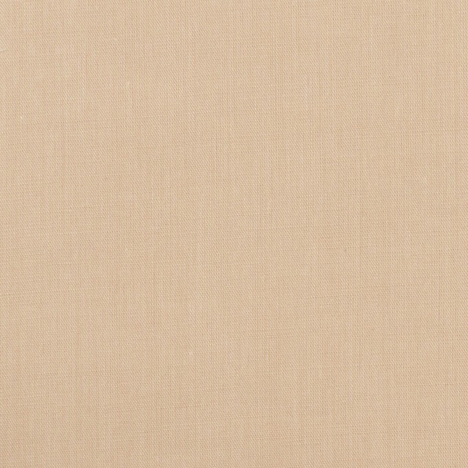 コットン&ポリウレタン×無地(ライトベージュ)×シャンブレー・ローンストレッチ イメージ1