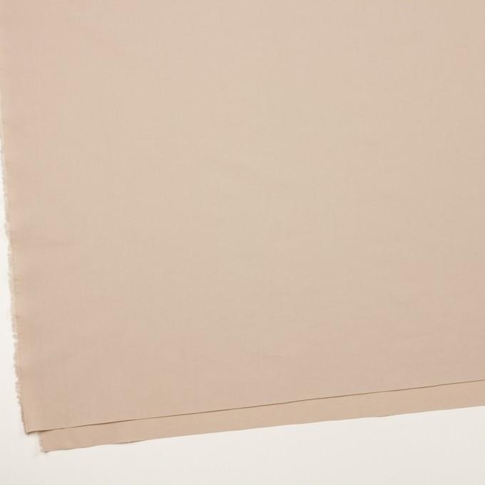 コットン&ポリウレタン×無地(ベージュ)×タイプライター(高密ローン)・ワッシャー イメージ2