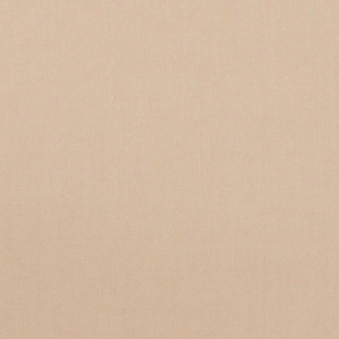 コットン&ポリウレタン×無地(ベージュ)×タイプライター(高密ローン)・ワッシャー イメージ1