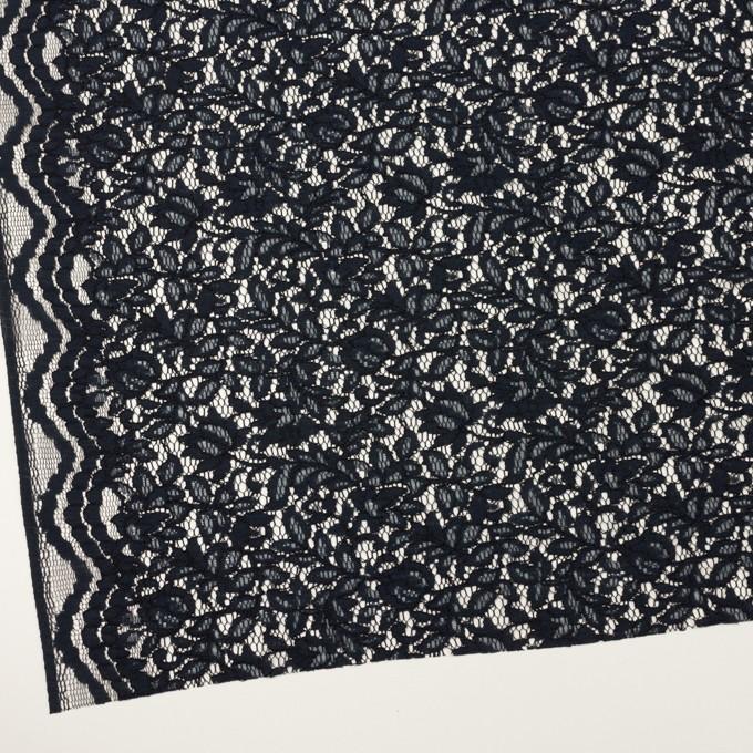 レーヨン&ナイロン混×フラワー(ダークネイビー)×ラッセルレース イメージ2