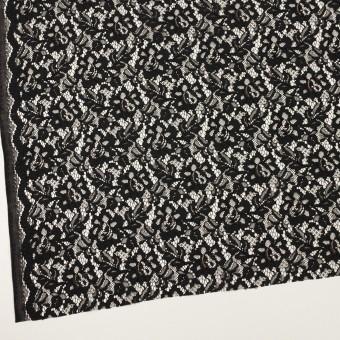 レーヨン&ナイロン混×フラワー(ブラック)×ラッセルレース サムネイル2