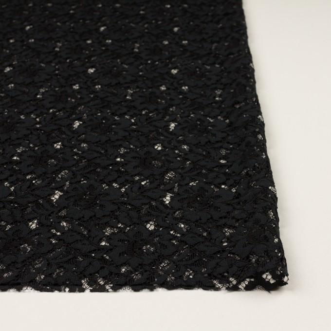 レーヨン&ナイロン混×フラワー(ブラック)×ラッセルレース イメージ3