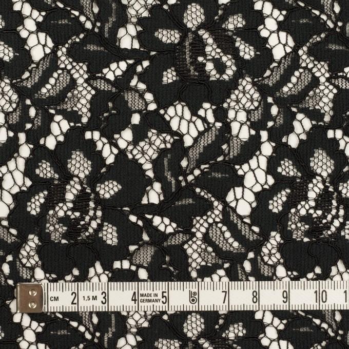 レーヨン&ナイロン混×フラワー(ブラック)×ラッセルレース イメージ4