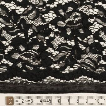 レーヨン&ナイロン混×フラワー(ブラック)×ラッセルレース サムネイル6