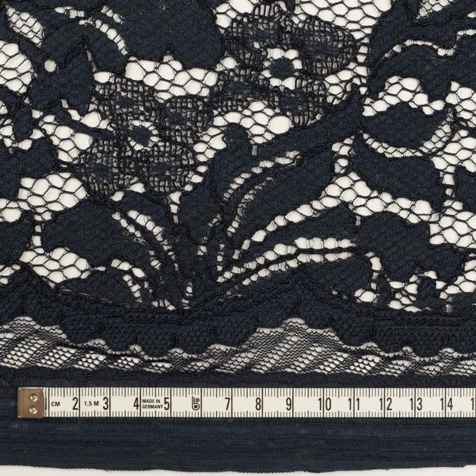 コットン&レーヨン混×フラワー(ダークネイビー)×ラッセルレース イメージ6