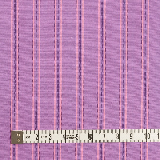 コットン×ストライプ(モーブ)×ブロード イメージ4
