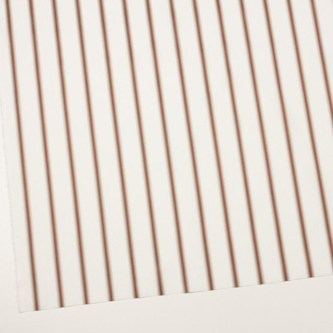 コットン×ストライプ(レンガ&カーキベージュ)×ブロードジャガード イメージ2