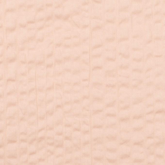 コットン×無地(ピンクベージュ)×ローンサッカー_全2色 イメージ1