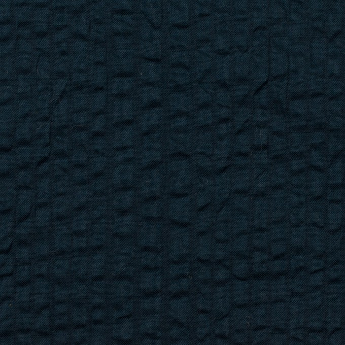 コットン×無地(ダークネイビー)×ローンサッカー_全2色 イメージ1