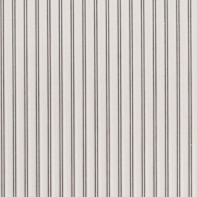 コットン×ストライプ(チャコールグレー)×ローン イメージ1