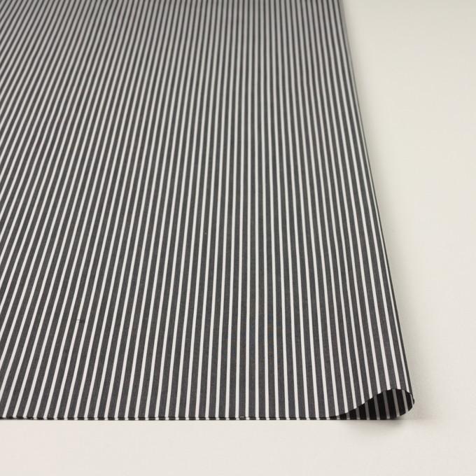 コットン×ストライプ(チャコール)×ブロード_イタリア製 イメージ3