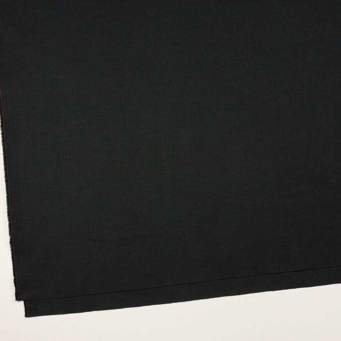 コットン&リネン混×無地(ブラック)×ギャバジン・ワッシャー_全8色 イメージ2