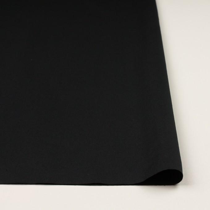 コットン&リネン混×無地(ブラック)×ギャバジン・ワッシャー_全8色 イメージ3