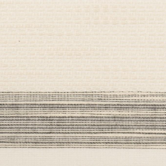 コットン×ボーダー(エクリュ)×ジャガード_全2色 イメージ1