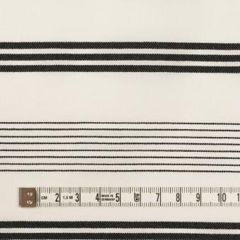 コットン×ボーダー(ミルク&ブラック)×ボイルジャガード サムネイル4
