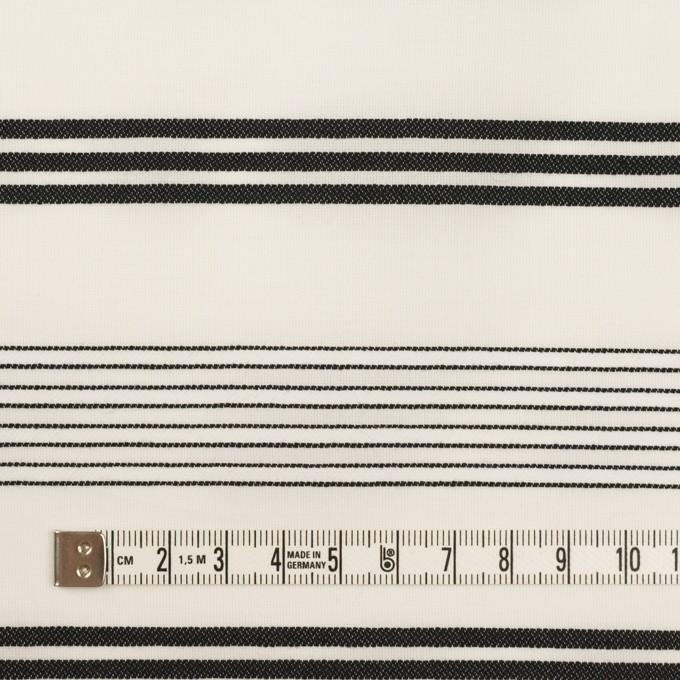 コットン×ボーダー(ミルク&ブラック)×ボイルジャガード イメージ4