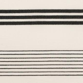 コットン×ボーダー(ミルク&ブラック)×ボイルジャガード サムネイル1