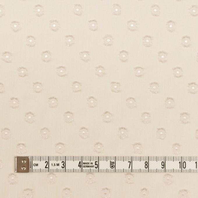 ポリエステル×ドット(エクリュ)×シフォンジョーゼット・カットジャガード_全2色 イメージ4